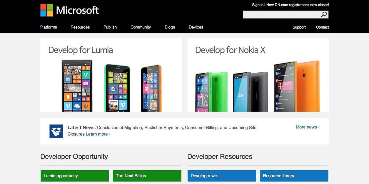 Microsoft nokia developer