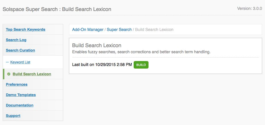 Build Search Lexicon