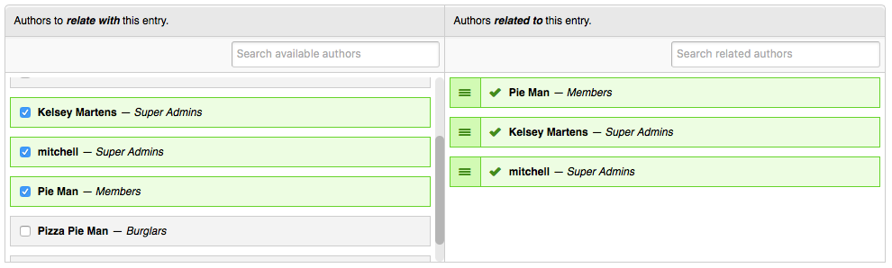 User CP - Related Authors Fieldtype