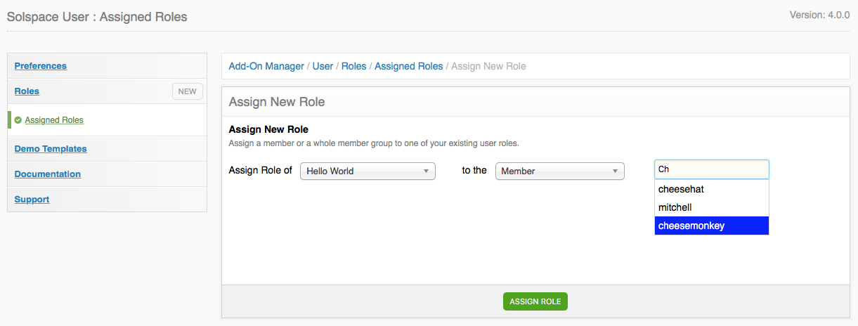 User CP - Assign Roles to Members or Groups